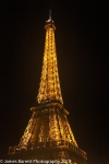 The Tour Eiffel at night.