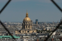 Des Invalides from the second level of Tour Eiffel