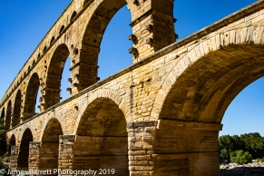 Pont du Gard from the sunny side.