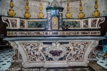 Marble inlaid altar
